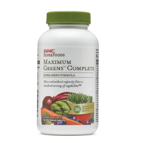 Viên Uống Siêu Thực Phẩm Xanh Bổ Sung Dinh Dưỡng & Vitamin - GNC Maximum Green Complete 90 Capsules